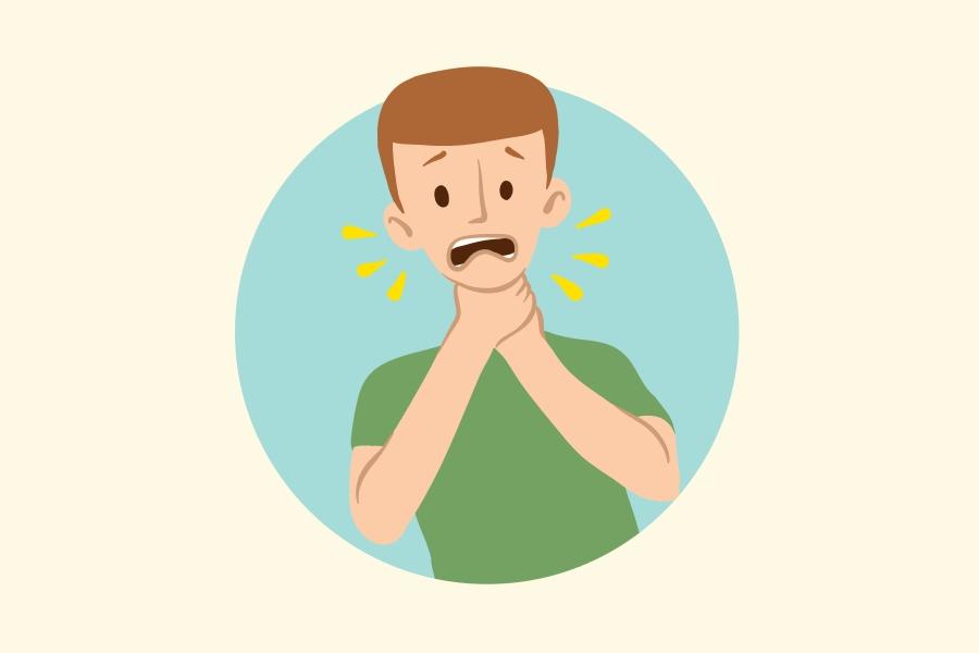 Ból gardła przy przełykaniu śliny