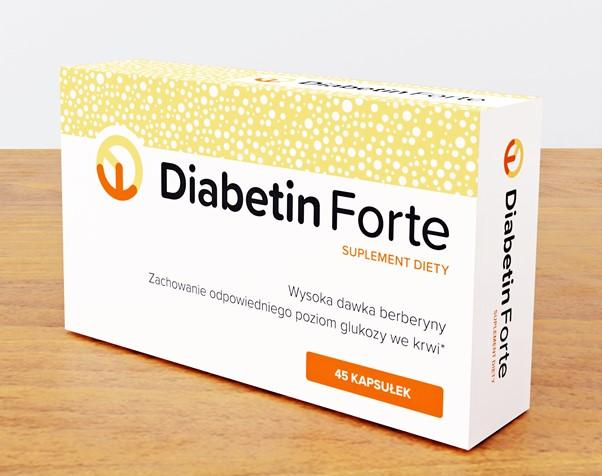 Opakowanie suplementu diety Diabetin Forte.