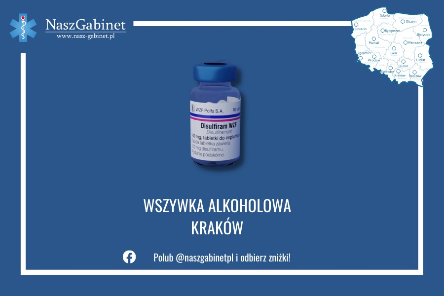 Grafika przedstawiająca ofertą placówek Nasz Gabinet w Krakowie.