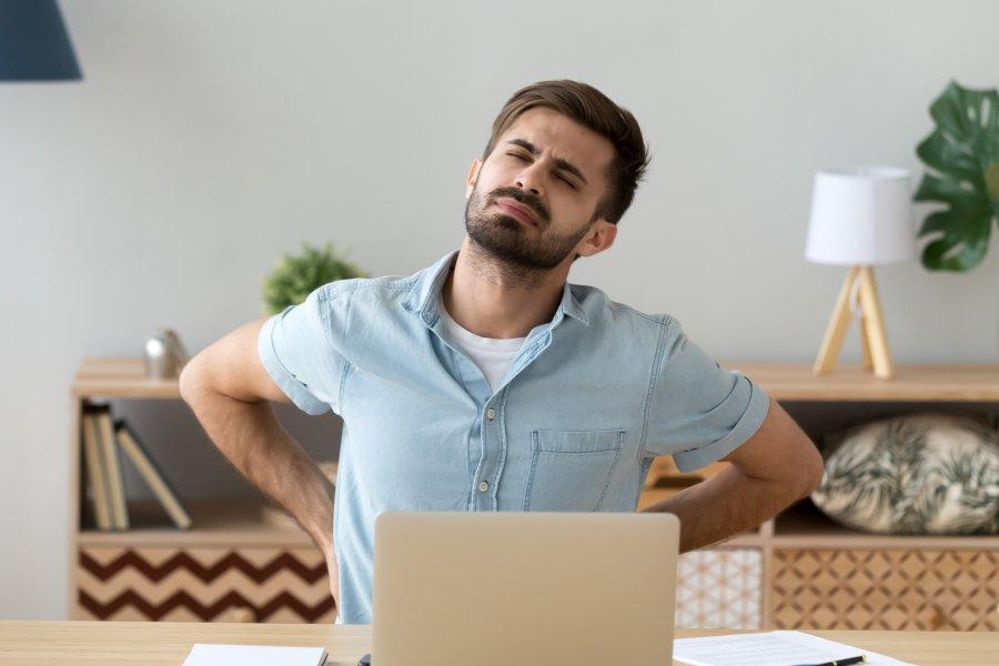 Praca w domu a ból pleców
